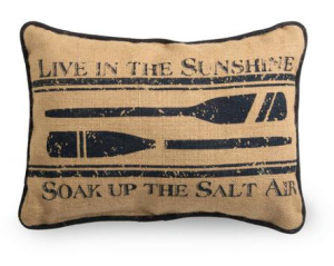 Nautical Pillow - Walmart (http://www.walmart.com/ip/Boston-International-1778866-Nautical-Oars-Pillow-Home-Accent-Case-Pack-of-2/39339734)