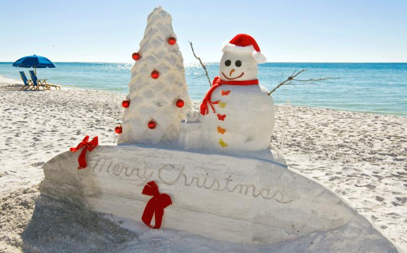 merry christmas from the beach - Merry Christmas Beach Images